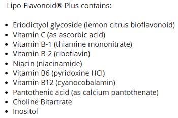Lipo-Flavonoid Plus ingredients